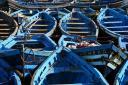 Ribiški čolni v Essaouiri